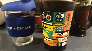 Karma Kup (left) and CuppaCoffeeCup (right)